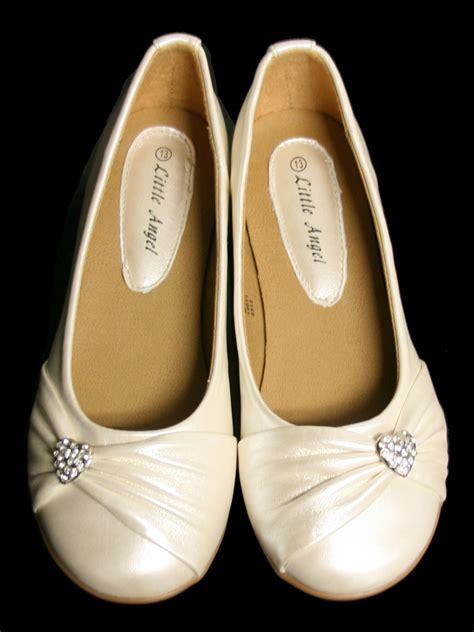 ivory childrens sandals ivory childrens flat shoes w rhinestone