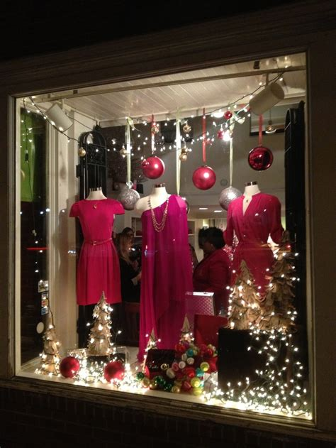 holiday window display work pinterest ornaments