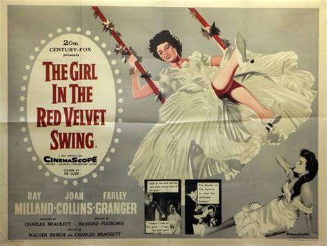 girl in the red velvet swing the girl in the red velvet swing poster uk quad 1955