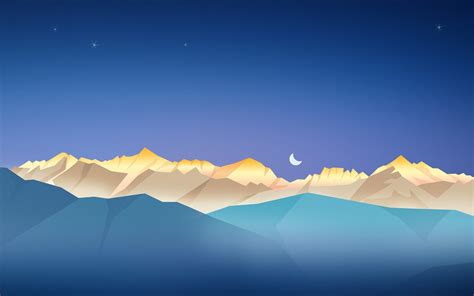 minimalist mountains night minimalism mountain artwork landscape wallpapers