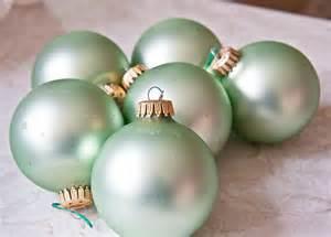mint green ornament balls krebs christmas vintage decoration