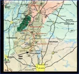 appalachian trail map tennessee map travel