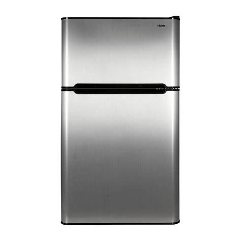 haier 3 2 cu ft 2 door mini refrigerator with separate