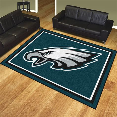 philadelphia eagles rugs philadelphia eagles 1 4 quot plush area rug 8 x 10