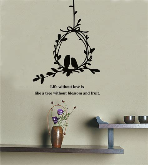 Wall Decal Quotes For Living Room by Olive Branch And Birds Wall Decals Stickers Quotes