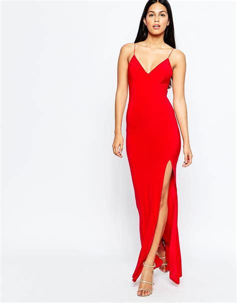 Dress L lyst club l slinky fishtail maxi dress in