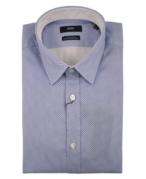 square pattern shirt name hugo boss blue 50302492 lukas 2 square pattern shirt