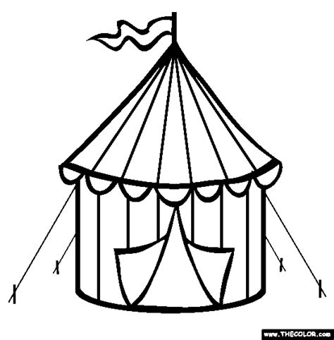 circus tent coloring page circus pinterest