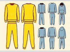 Blank Sweat Suit - Download Free Vector Art, Stock ... Fashion Illustration Templates Men