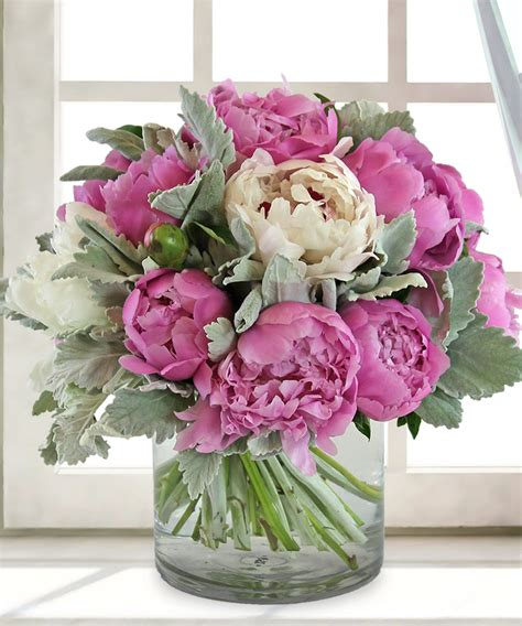 peony arrangement peonie pleasure pink peonies allen s flowers san diego