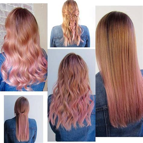 simple and versatile hair style 65 rose gold hair color ideas for 2017 rose gold hair