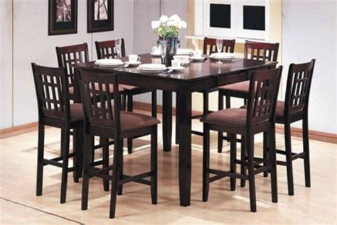 pub style dining room table 8 seat pub table pc pub style dining set table 8