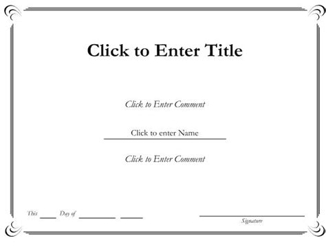 Ms Word Printable Certificate Templates Blank Certificates Blank Certificate Of Completion Template Word