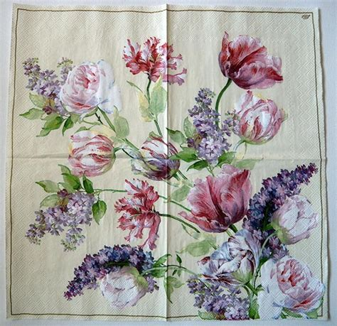 Decoupage With Paper Napkins - decoupage paper napkin garden roses chiarotino