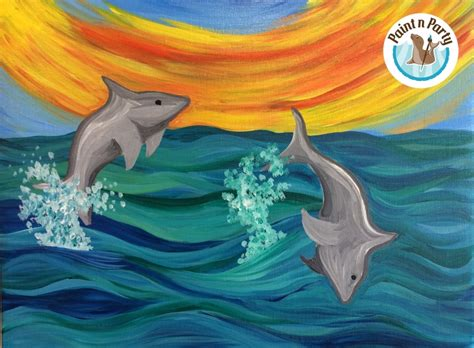 colorful dolphins paint n all ages colorful dolphins 07 22 2015