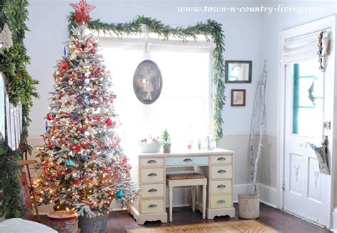 Burlap Home Decor my christmas home tour 2014 town amp country living