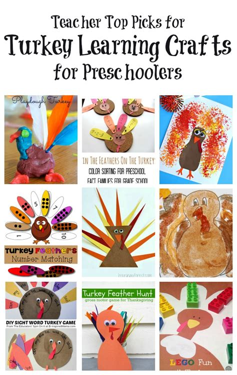 learning crafts for turkey activities for preschool learning and play the