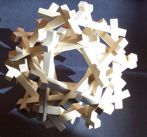 Tetrahedra Origami - puzzles by george w hart