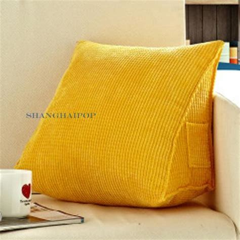 bed triangle pillow 1 x wedge triangle plain cushion pillow bed sofa chair