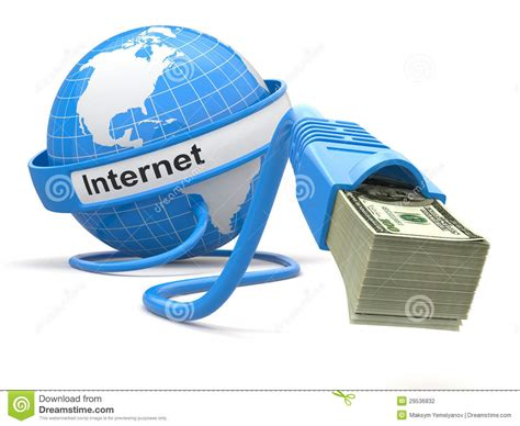 Make Money With Photography Online - make money online concept earth and internet cable with money stock photography