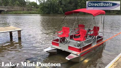 mini boat price laker mini pontoon boat youtube