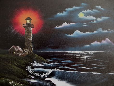 bob ross painting lighthouse joella sommer homepage