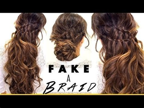 3 everyday hairstyles in 3 minutes 3 minute 3 easy hairstyles fake ladder braids for medium