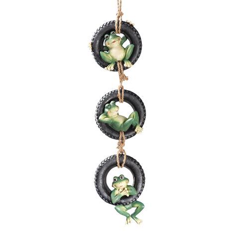 tire swing hanger hanging tire swing frogs green by collections etc ebay
