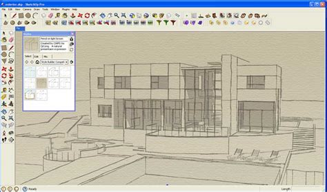 tutorial sketchup style builder a watercolor and line drawing ink effect sketchup 3d