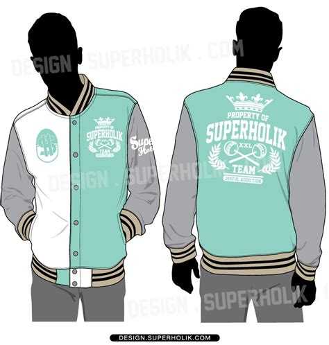 Jaket Varsity Menes Apparel 001 fashion design templates vector illustrations and clip