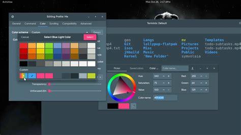 bash color scheme how to export bash color schemes in terminix