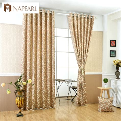 Curtains For Living Room Windows Designs Geometric Jacquard Modern Curtains Simple Design Living Room Curtains Blind Home Decoration