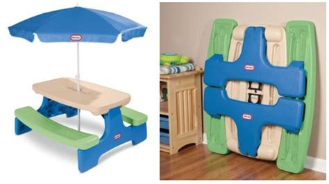 Tikes Easy Store Table by Tikes Easy Store Picnic Table With Umbrella Only