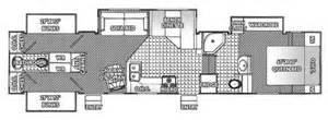 3 bedroom rv floor plan rv 2 bathroom floor plans 2005 titanium 36e41 fifth