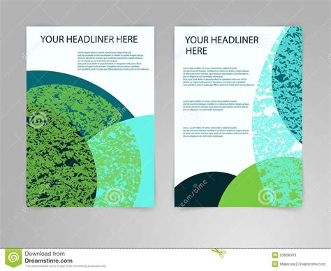abstract blue and green brochure flyer design vector