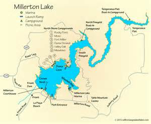 millerton lake cing map