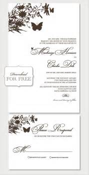 Printable Invitation Templates Free Free Printable Wedding Invitation Templates