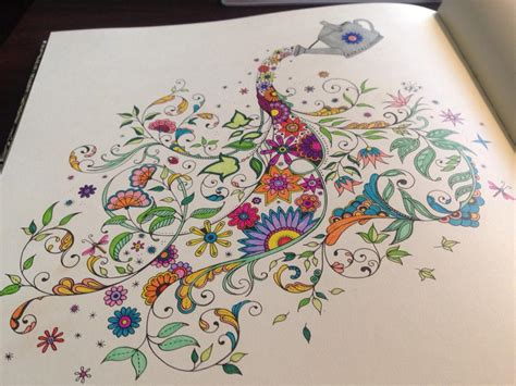 secret garden coloring book completed secret garden coloring book is great when stoned entwives