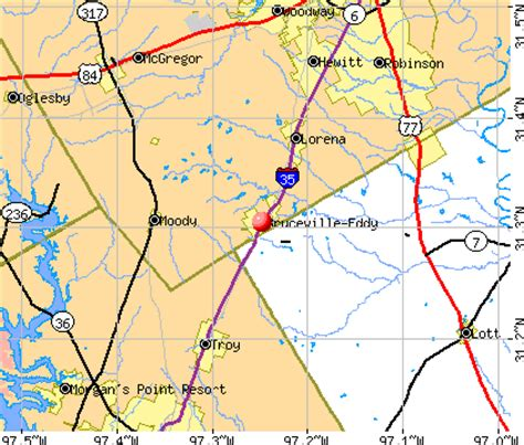 eddy texas map bruceville eddy texas tx 76524 76630 profile population maps real estate averages homes
