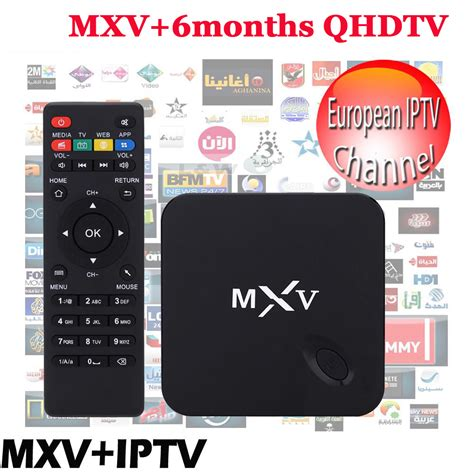 canal plus cuisine tv 6 months iptv included android tv box mxv