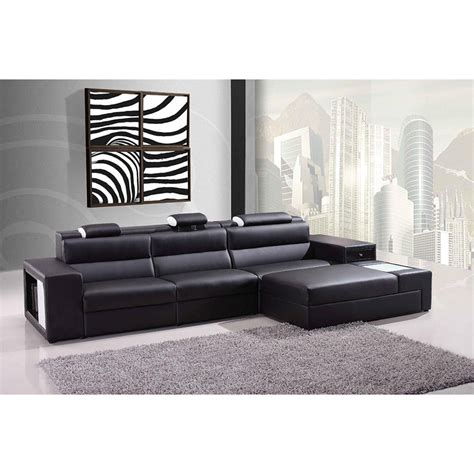 polaris leather sectional sofa divani casa polaris mini contemporary bonded leather