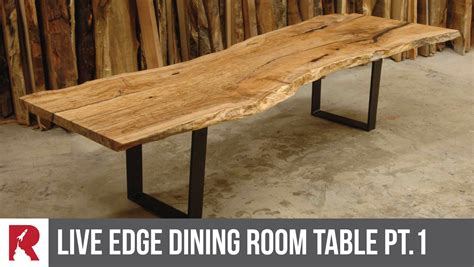 How To Make A Dining by A Live Edge Dining Table Part 1 Rocket Design