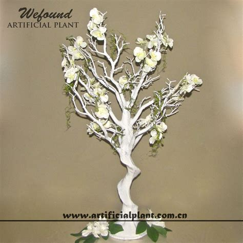 White Manzanita Tree And Flower Wedding Decoration White Manzanita Tree Centerpiece