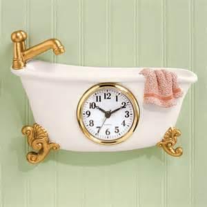 bathtub clock bathroom clocks bathroom shower miles kimball