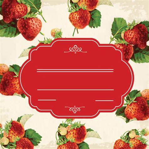 marmellata testo etichetta marmellata di fragole vintage