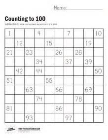 kindergarten counting worksheets to 100 count by tens