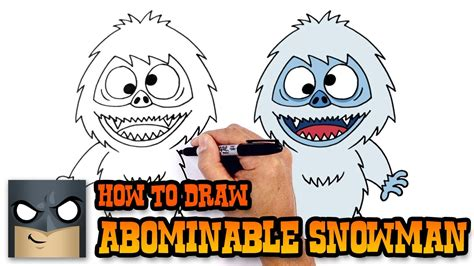 how to draw the rudolph abominable snowman how to draw abominable snowman drawing lesson