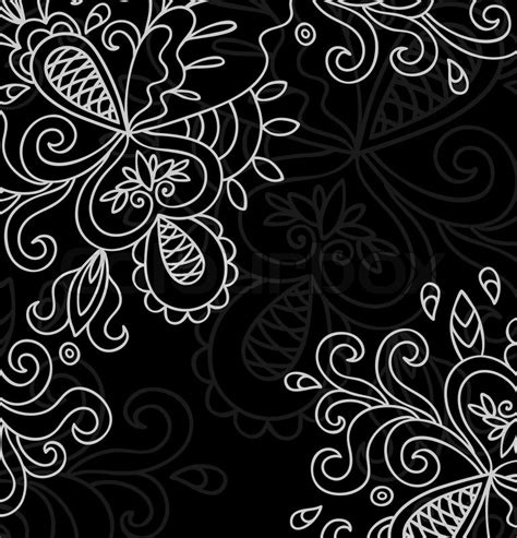 white on black designs invitation card on black background with lace white