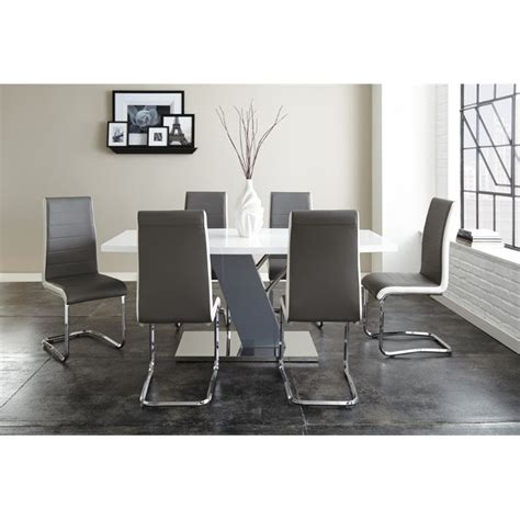 Nevada Dining Table And Chairs Steve Silver Nevada Dining Table In White Nv500 Kit