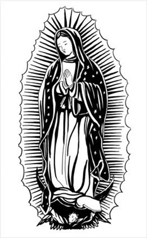 La Virgen De Guadalupe Black And White Elojoquepiensa Net